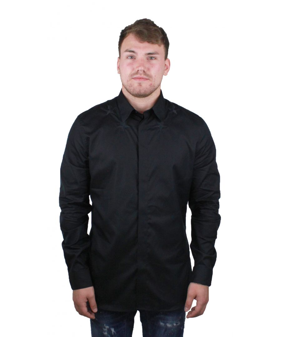Image for Givenchy BM601C1Y39 001 Mens Black Shirt