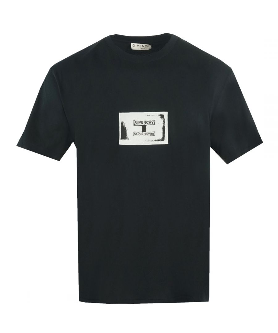 Image for Givenchy Box Logo Black T-Shirt