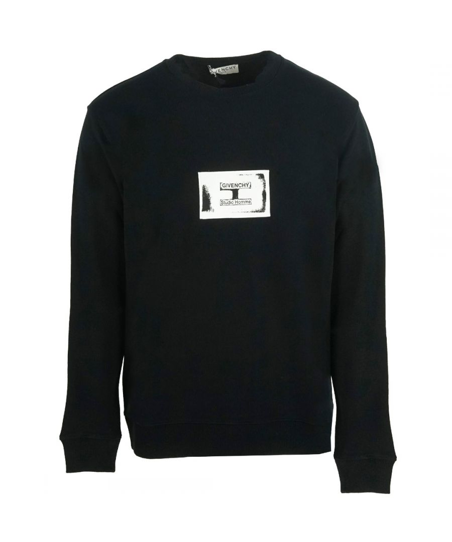 Image for Givenchy Box Logo Black Sweater