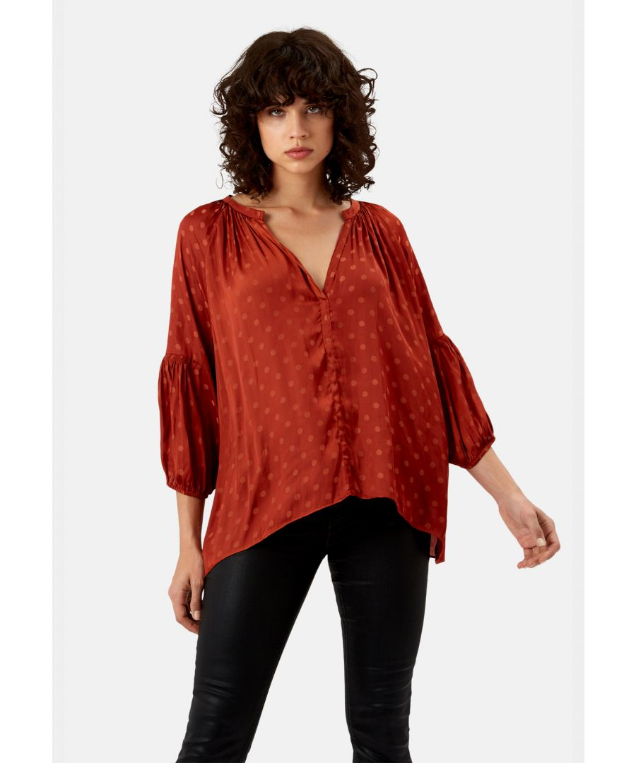 Image for Folklore Polka Dot Top in Rust
