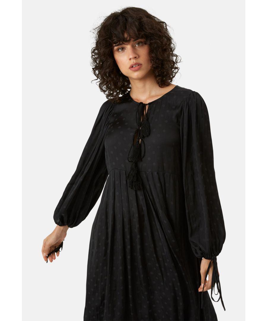 Image for Boho Blues Midi Dress in Black