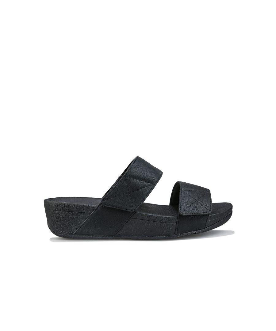 Image for Women's Fit Flop Mina Shimmer Slide Sandals in Black