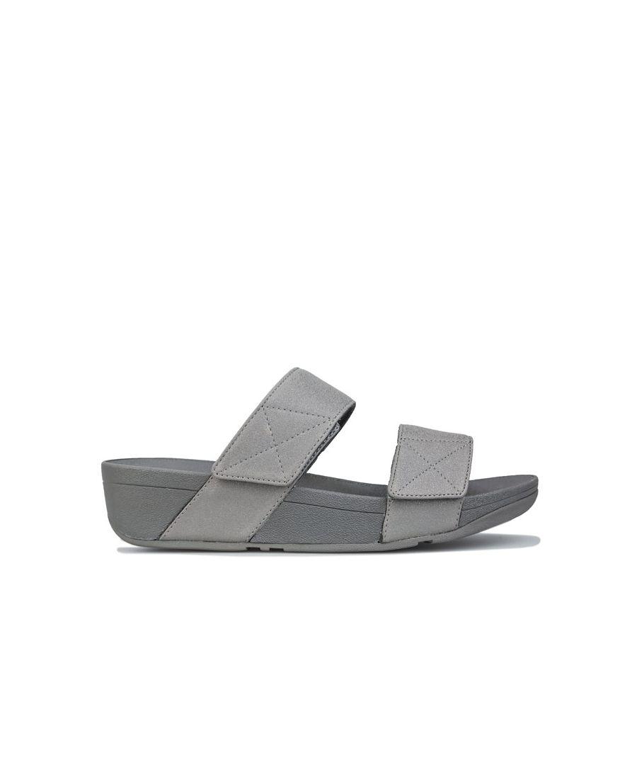 Image for Women's Fit Flop Mina Shimmer Slide Sandals in Gunmetal