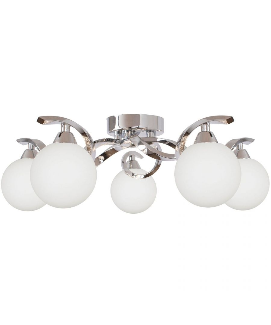 Image for Bombo 5 Light Semi Flush Ceiling Light