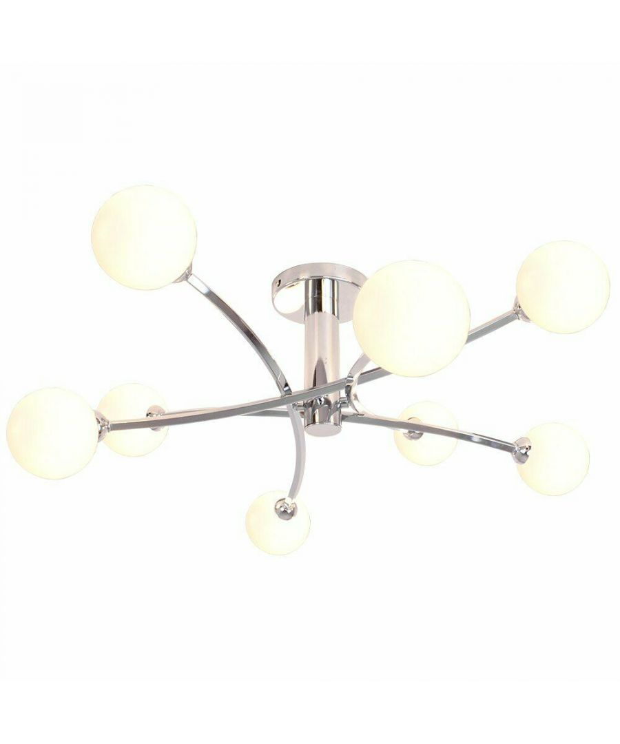 Image for Bombo 8 Light Ceiling Light Polished Chrome