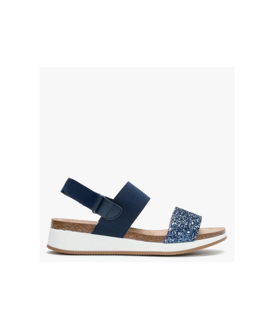 Image for Daniel Bottlewell II Glitter Low Wedge Sandals