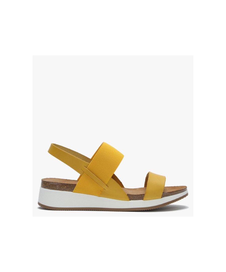 Image for Daniel Bottlewell Leather Low Wedge Sandals