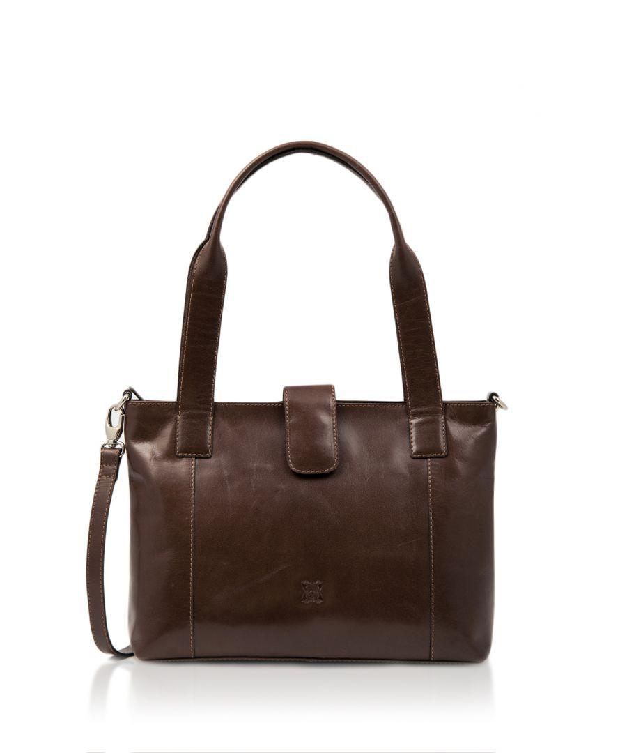 Image for Bowland Leather Shoulder Bag in Brown