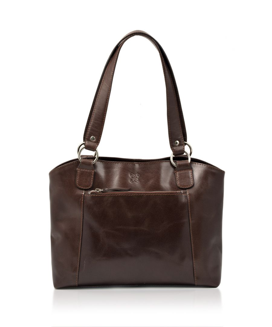 Image for Bowland Leather Shopper in Dark Brown