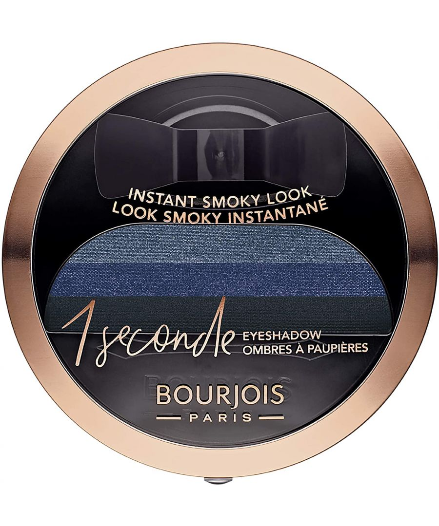 Image for Bourjois Paris 1 Seconde Smoky Look Eyeshadow 3g - 04 Insaisissa-Bleu