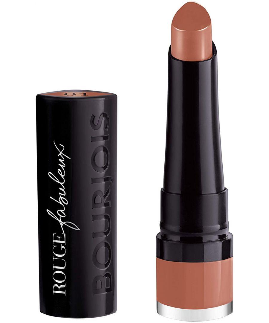 Image for Bourjois Paris Rouge Fabuleux Lipstick - 01 Abracadabiege