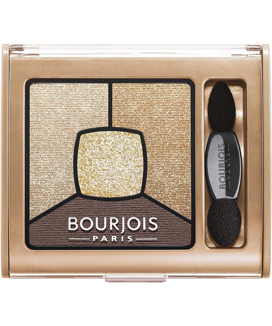 Image for Bourjois Paris Smoky Stories Quad Eyeshadow Palette 3.2g - 16 I Gold It