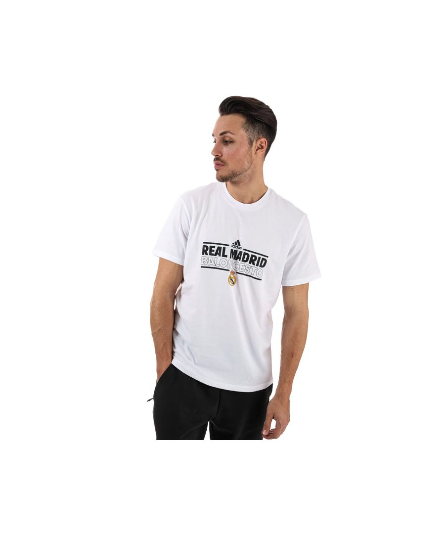 Image for Men's adidas Real Madrid Graphic T-Shirt in White