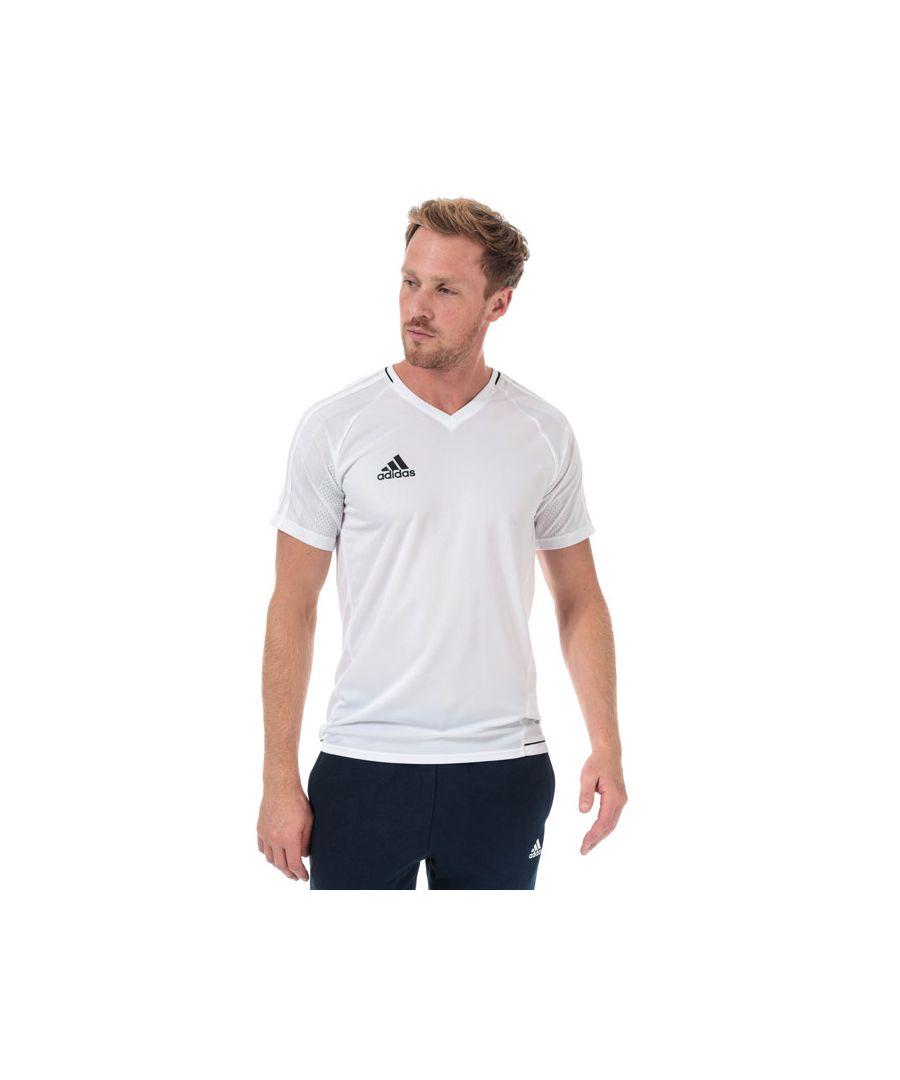 Image for Men's adidas Tiro 17 Training Jersey in White Black