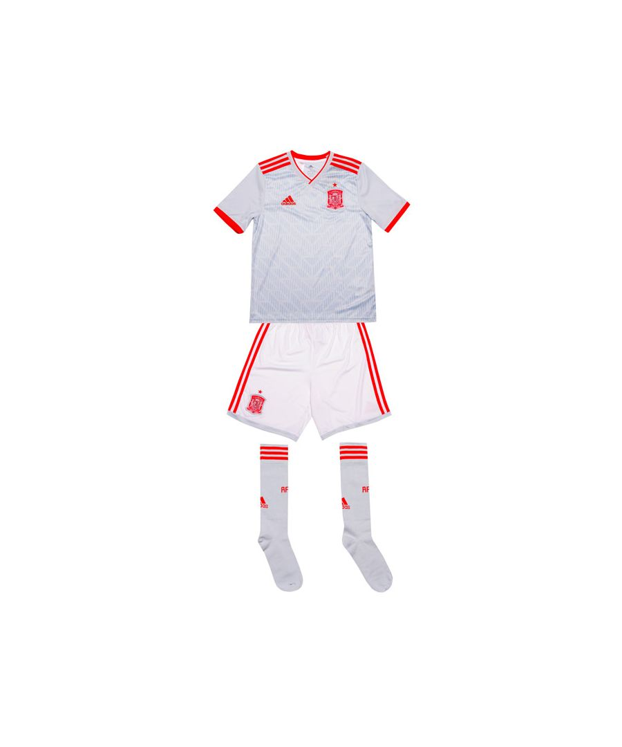 Image for Boy's adidas Junior Spain Away Kit in White