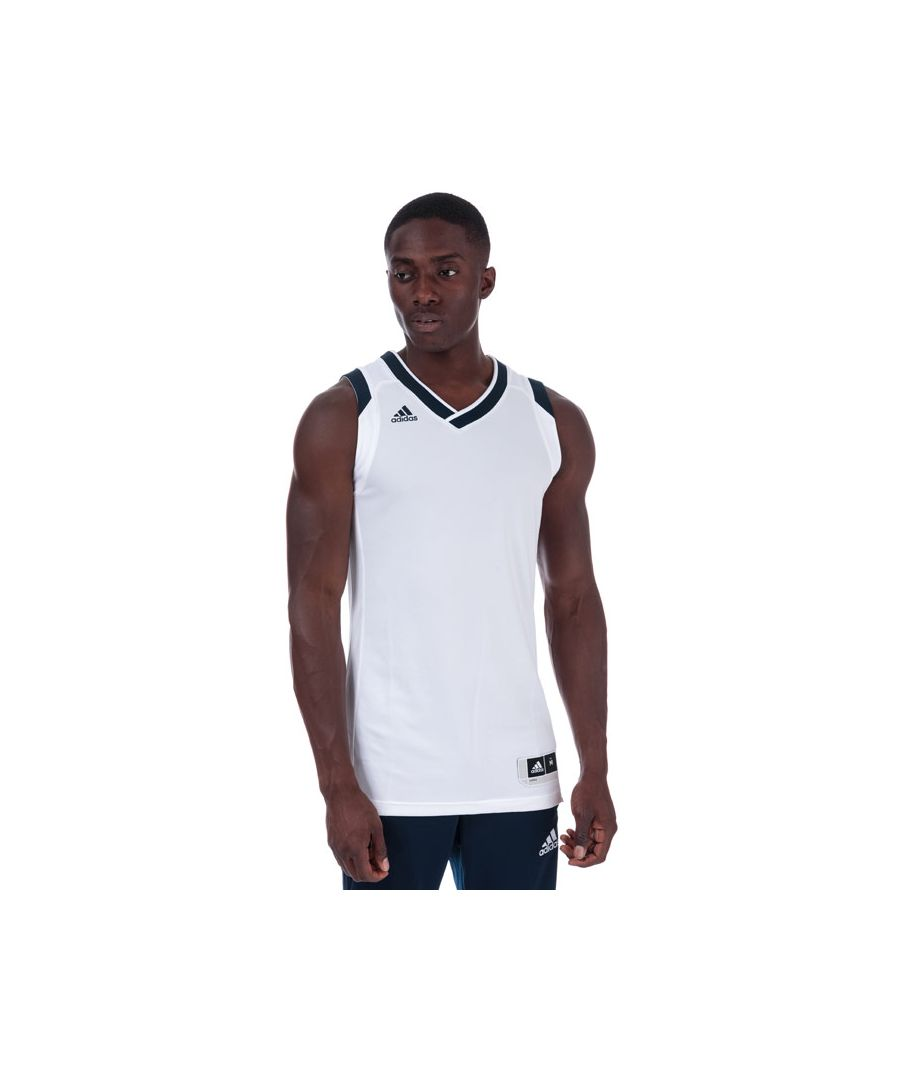 Image for Men's adidas Crazy Explosive Jersey Vest Top in White