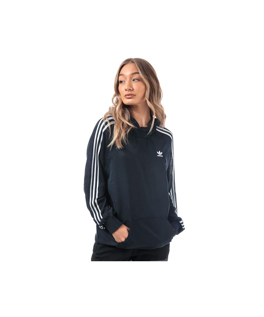 Image for Women's adidas Originals 3-Stripes Long Hoody in Navy