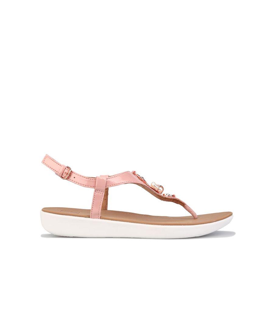 Image for Women's Fit Flop Lainey Embellished Back Strap Sandals Rose UK 3in Rose