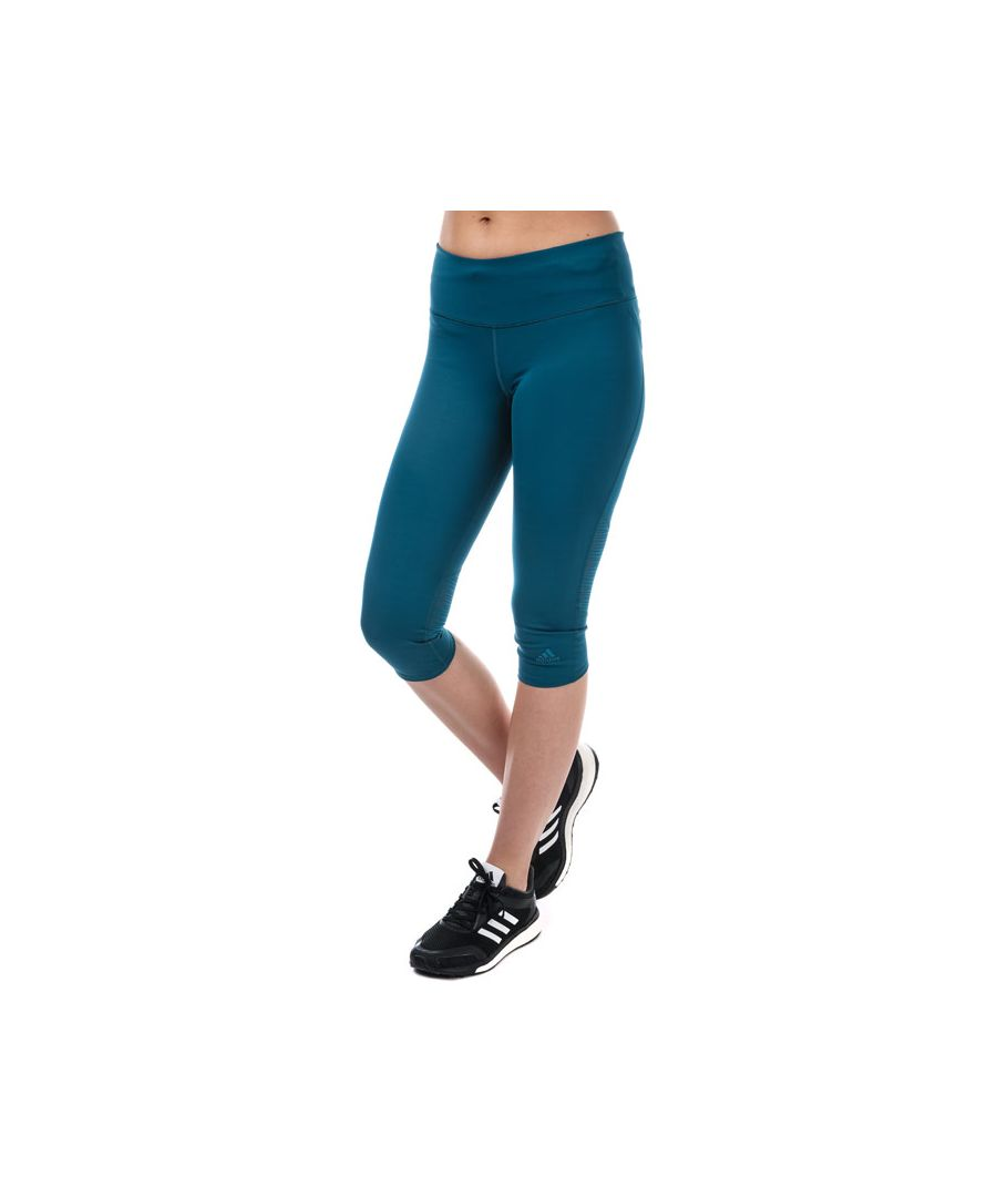 Image for Women's adidas Supernova 3 Quarter Tights in Blue