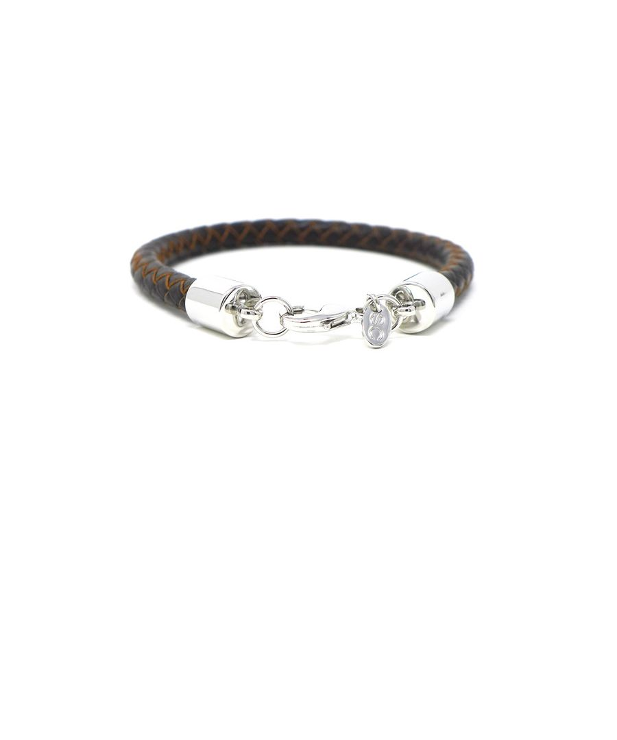Image for Braided Brown Leather Bracelet