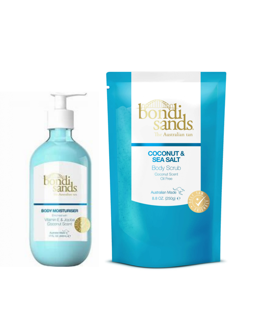 Image for Bondi Sands Body Scrub Coconut and Sea Salt 250g + Coconut Moisturiser 500ml