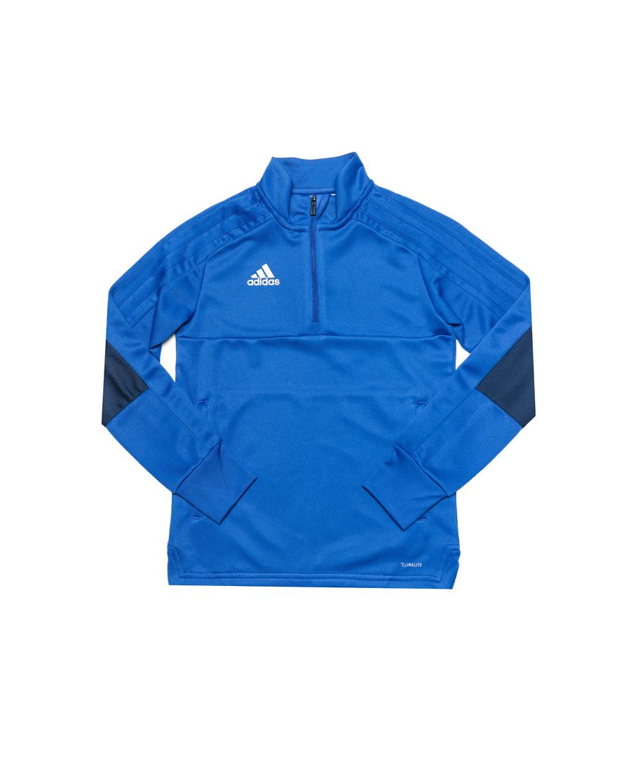 Image for Boy's adidas Junior Convido 18 Training Top in Blue