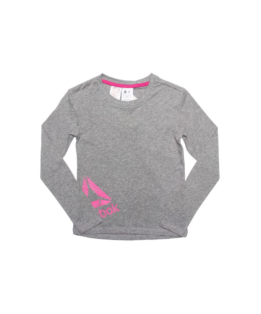 Image for Girl's Reebok Infant Essential LS Training T-Shirt in Grey