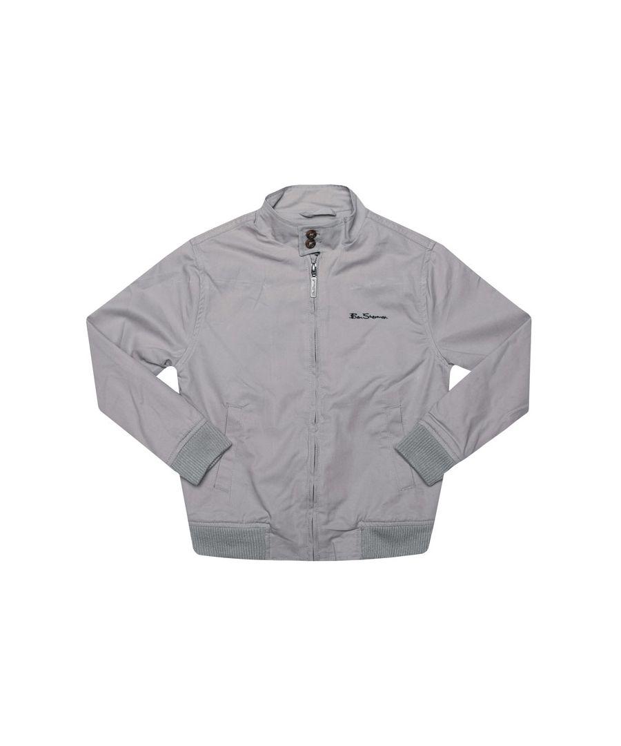 Image for Boy's Ben Sherman Junior Harrington Jacket in Grey