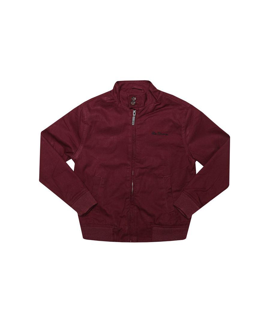 Image for Boy's Ben Sherman Junior Harrington Jacket in Burgundy