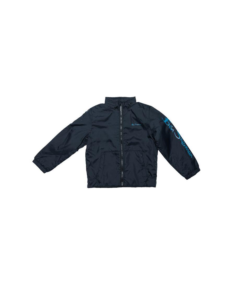 Image for Boy's Ben Sherman Infant Windcheater Jacket in Navy