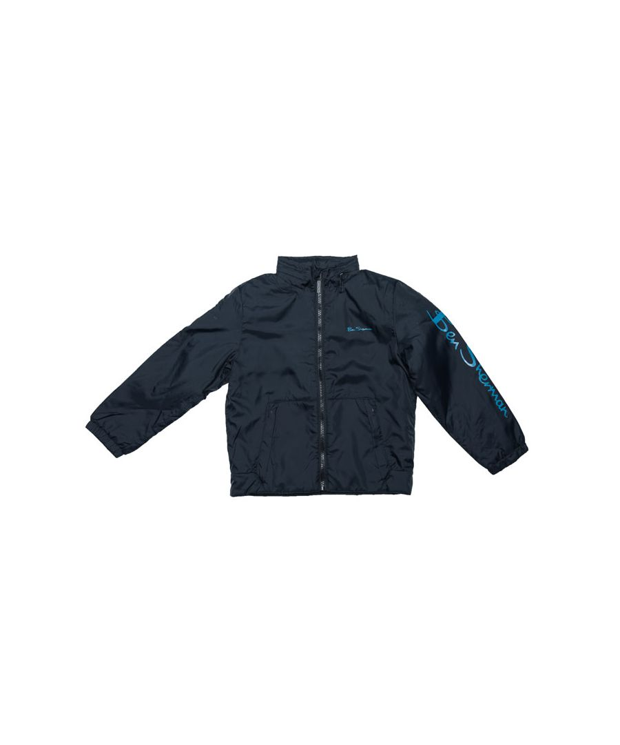 Image for Boy's Ben Sherman Junior Windcheater Jacket in Navy