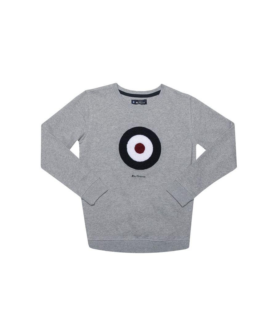 Image for Boy's Ben Sherman Junior Bullseye Crew Sweatshirt in Grey