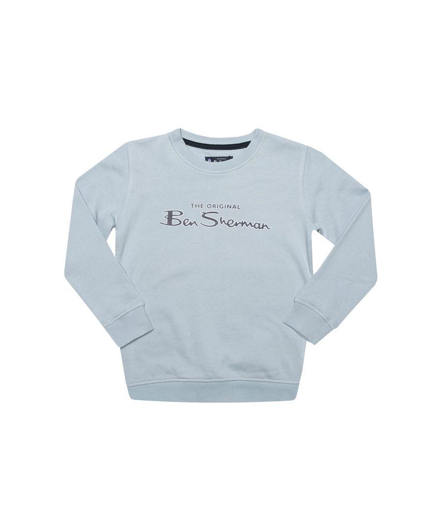 Image for Boy's Ben Sherman Junior Original Crew Sweatshirt in Blue