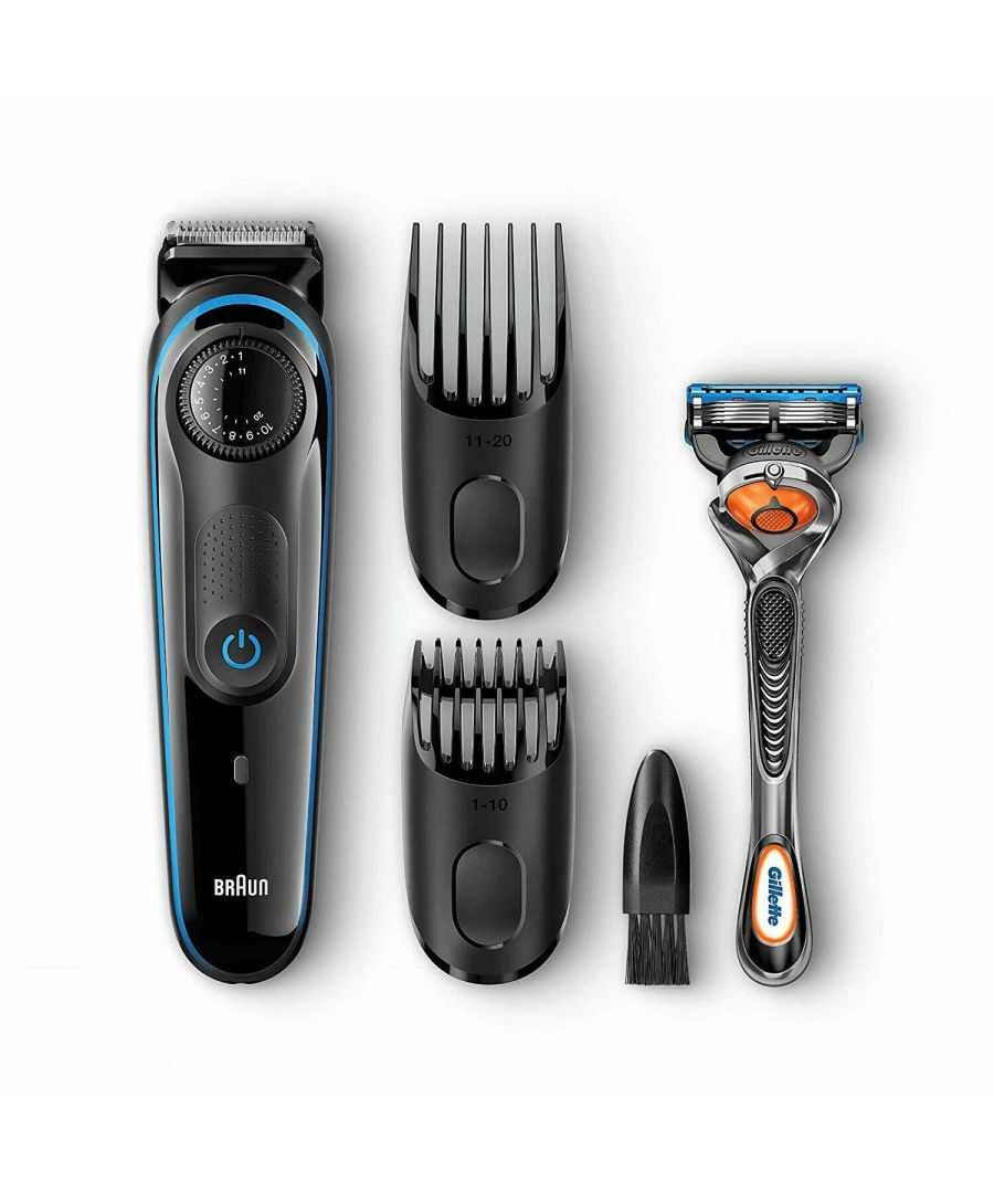 Image for Braun BT3040, Beard Trimmer and Hair Clipper with Gillette Fusion5 ProGlide Razor