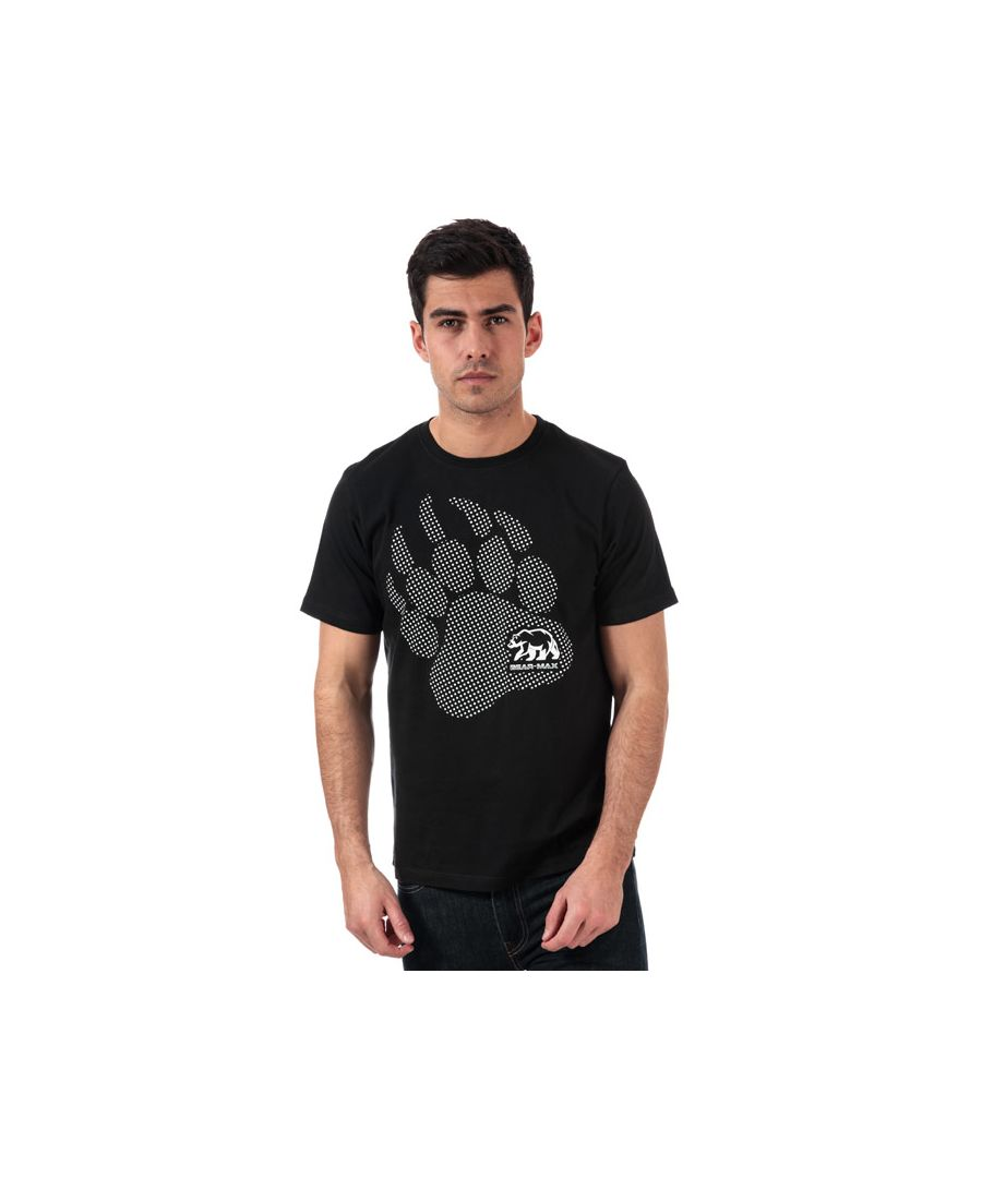Image for Men's Bear Max Kermode Front Graphic T-Shirt in Black