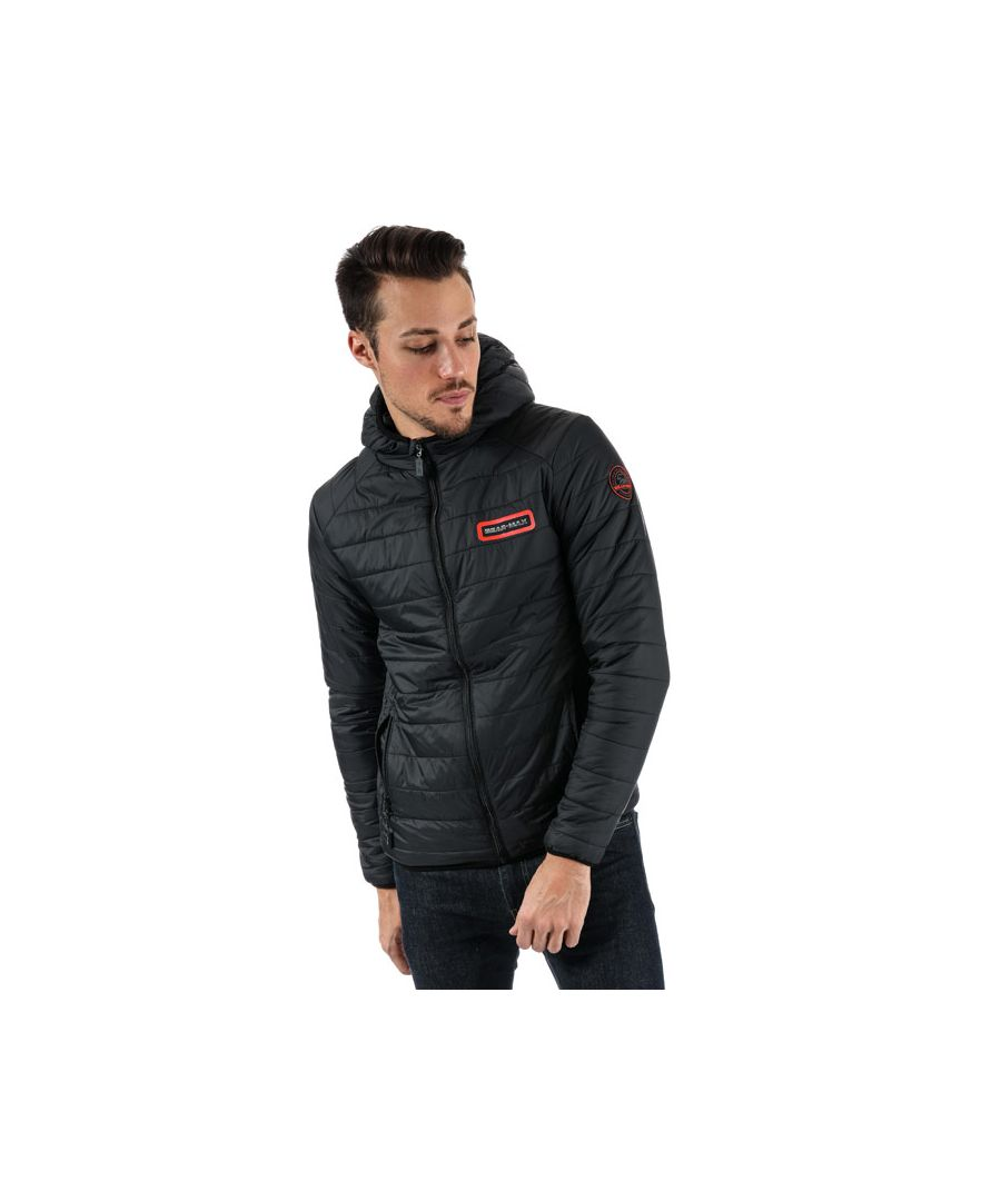 Image for Men's Bear Max Grizzly Hooded Puffer Jacket in Black