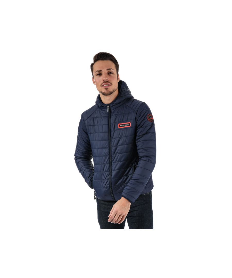 Image for Men's Bear Max Grizzly Hooded Puffer Jacket in Navy