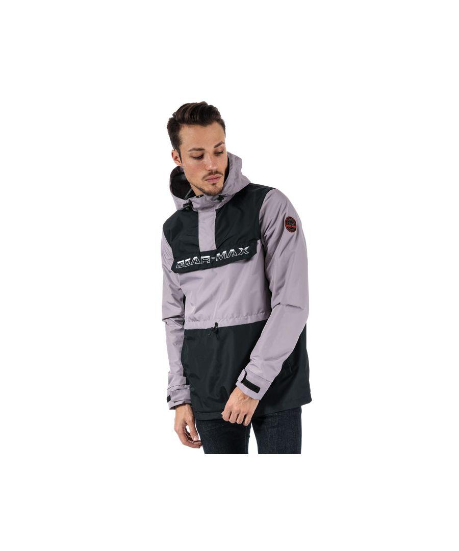 Image for Men's Bear Max Kodiack Half Zip Windbreaker in Grey