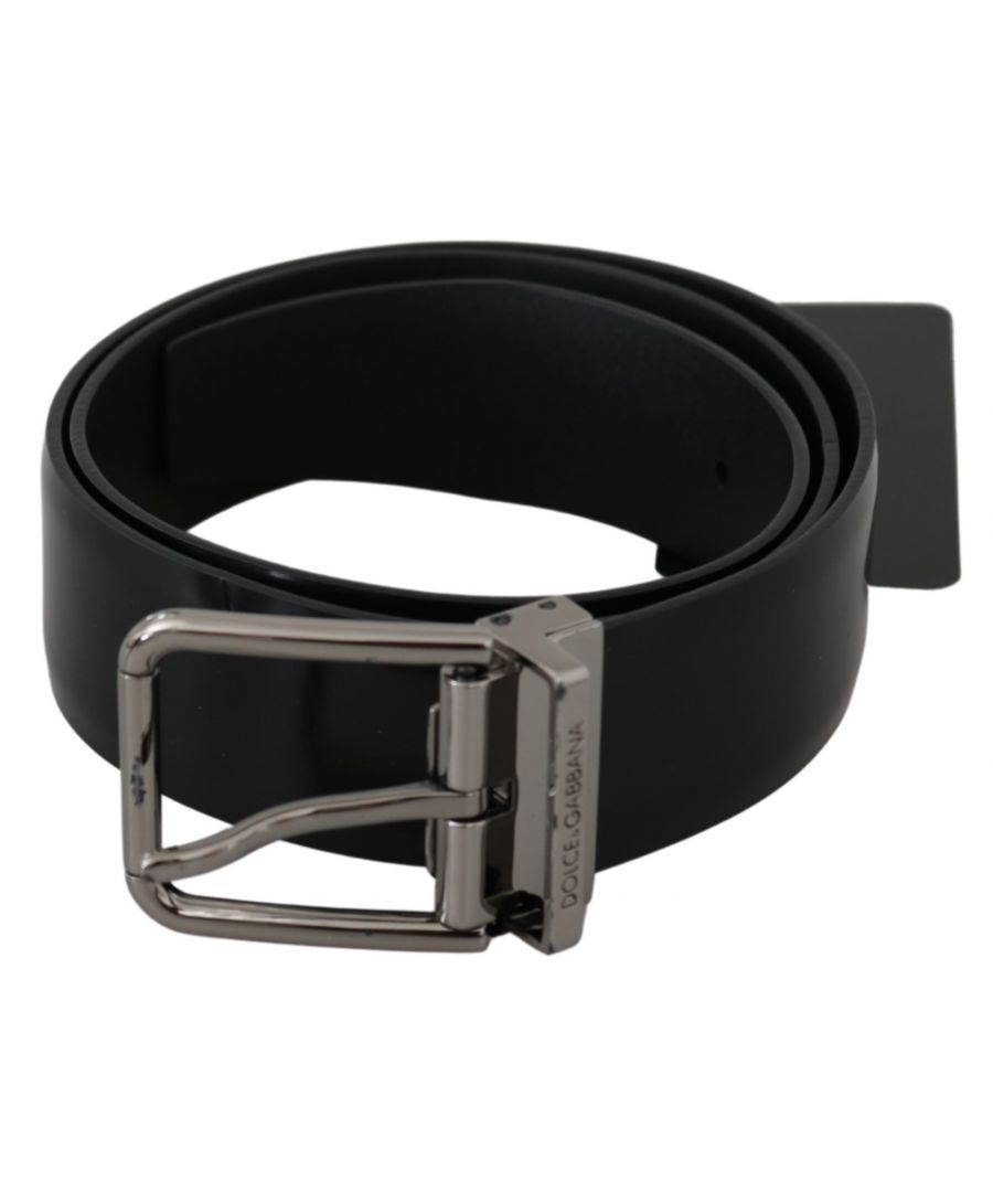 Image for Dolce & Gabbana Black Silver Buckle Waist Leather Belt