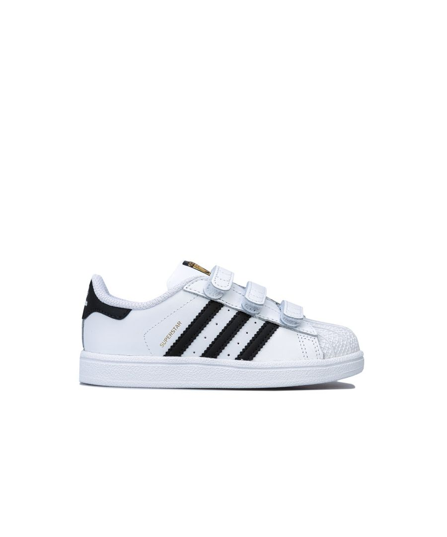 Image for Boy's adidas Originals Infant Superstar CF Trainers in White Black