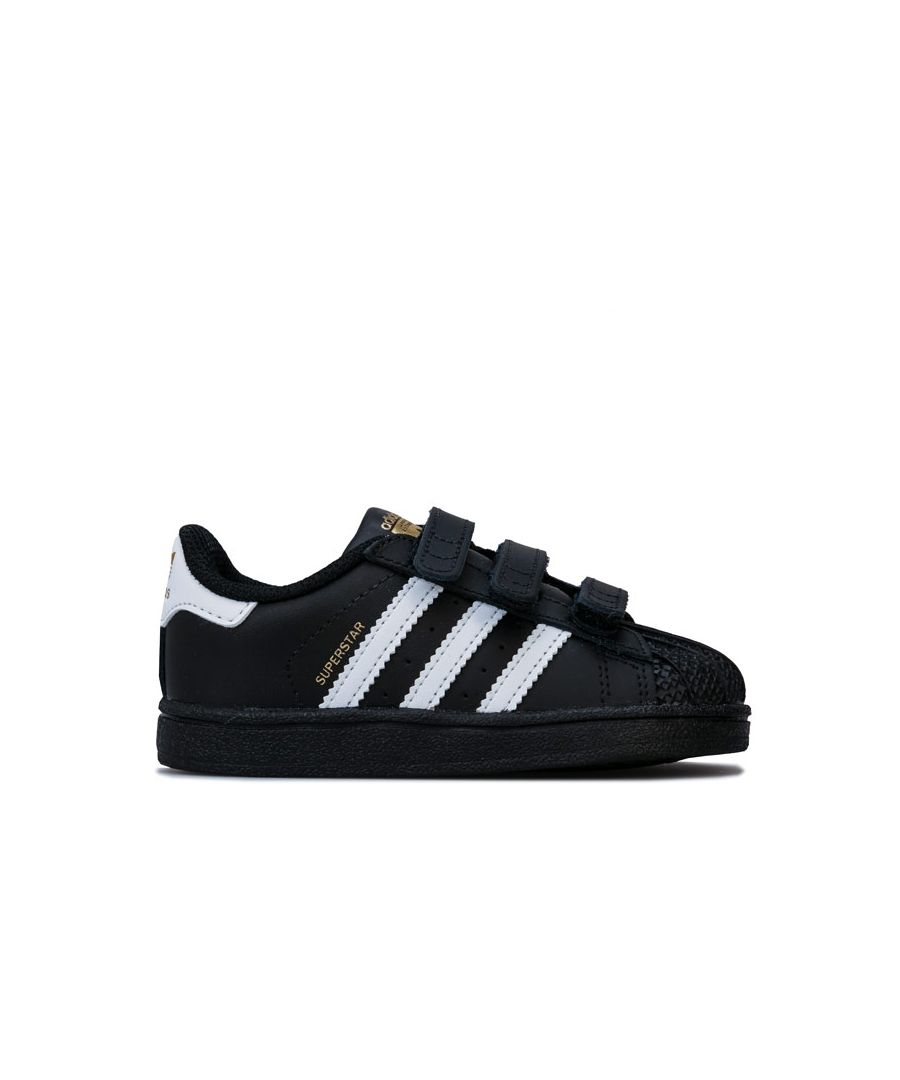 Image for Boy's adidas Originals Infant Superstar CF Trainers in Black-White
