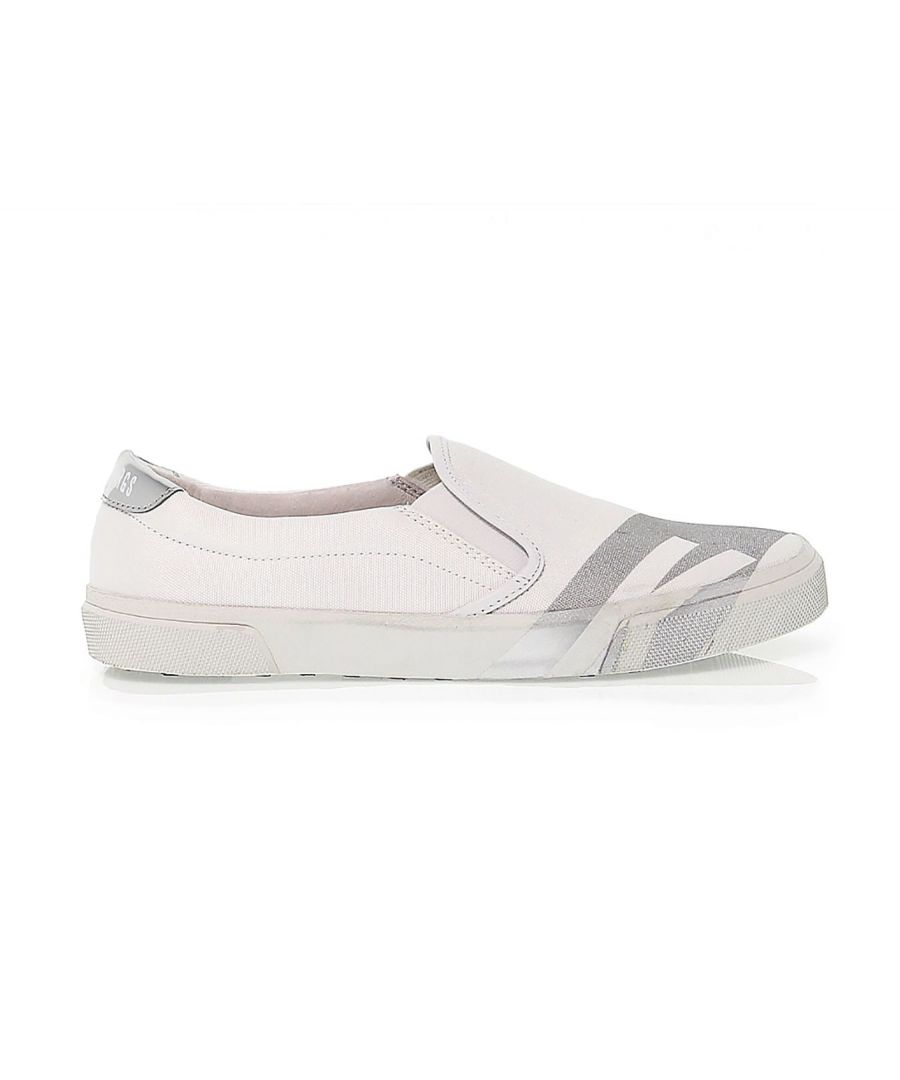 Image for BIKKEMBERGS WOMEN'S BKW101450 WHITE FABRIC SNEAKERS
