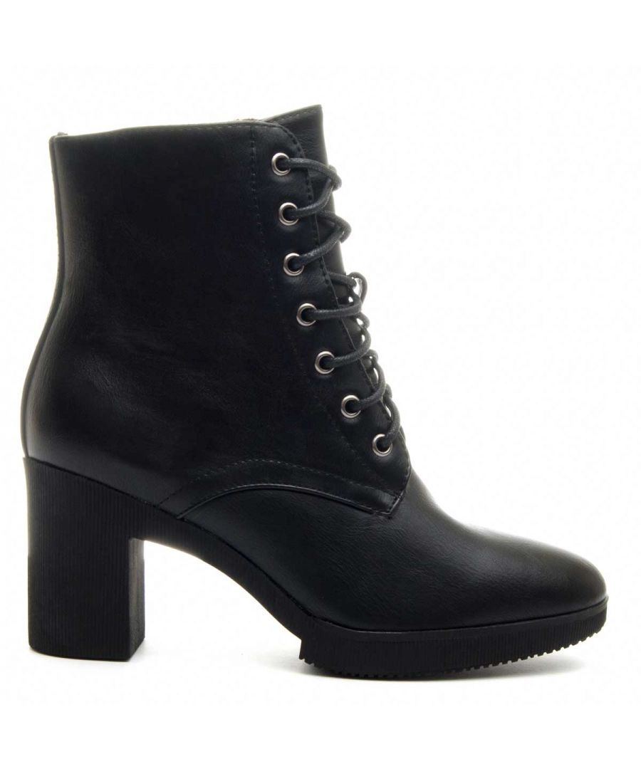 Image for Montevita Lace Up Ankle Boot in Black