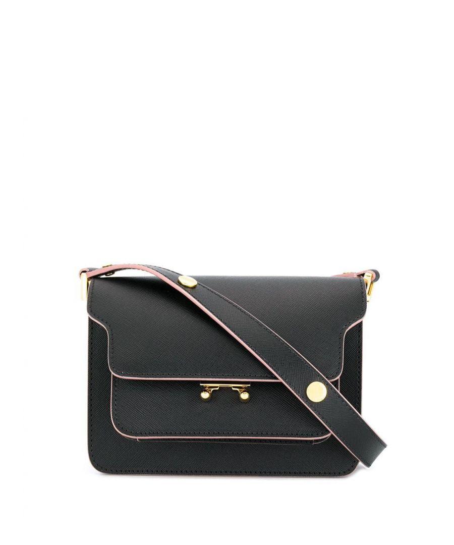 Image for MARNI WOMEN'S SBMPS01U07LV520Z195C BLACK LEATHER SHOULDER BAG