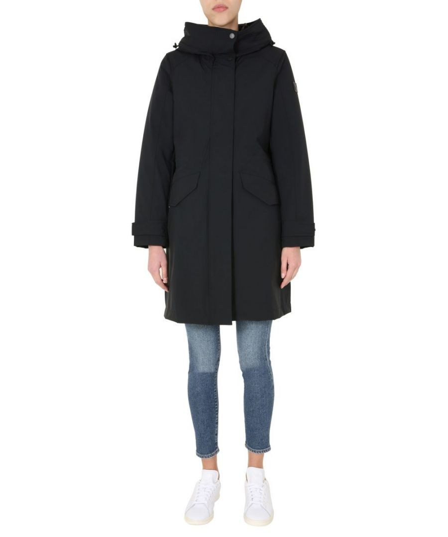 Image for WOOLRICH WOMEN'S WWOU0200FRUT0102100 BLACK POLYAMIDE COAT