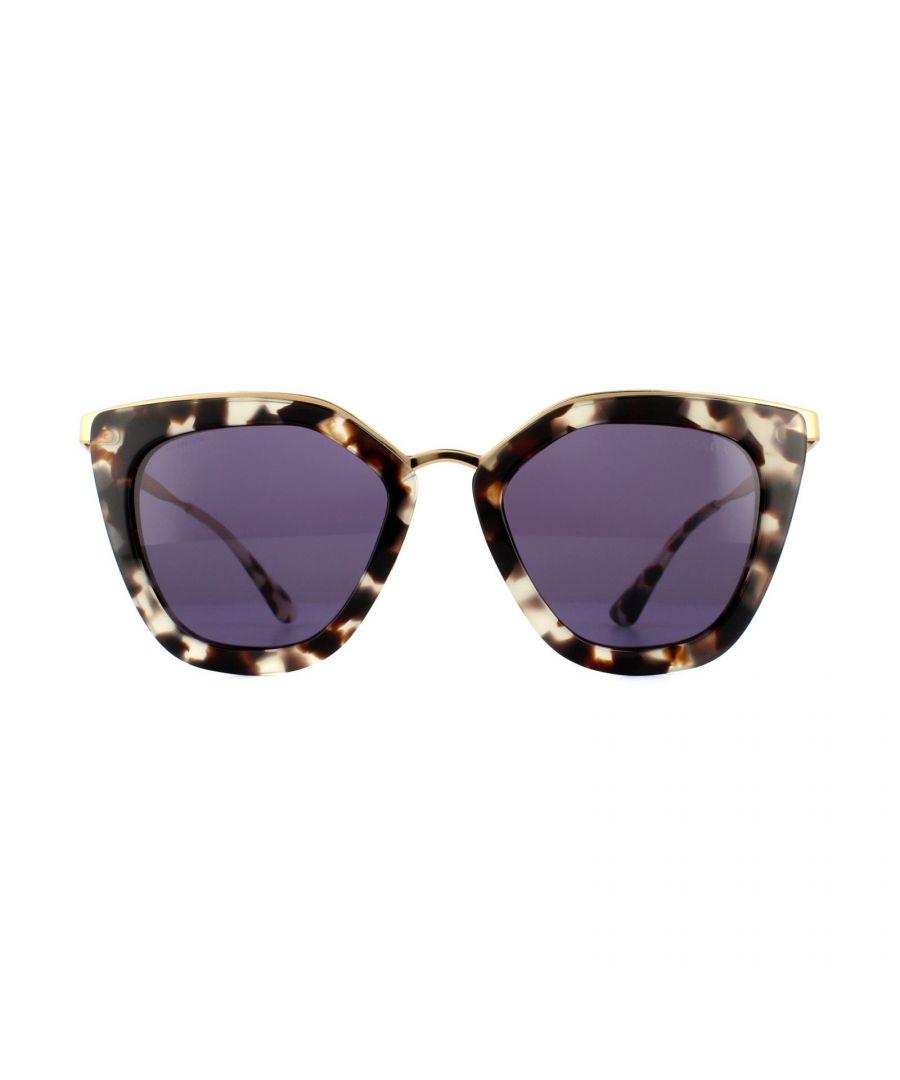 Image for Prada Sunglasses Cinema Evolution 53SS UAO6O2 White Havana Violet