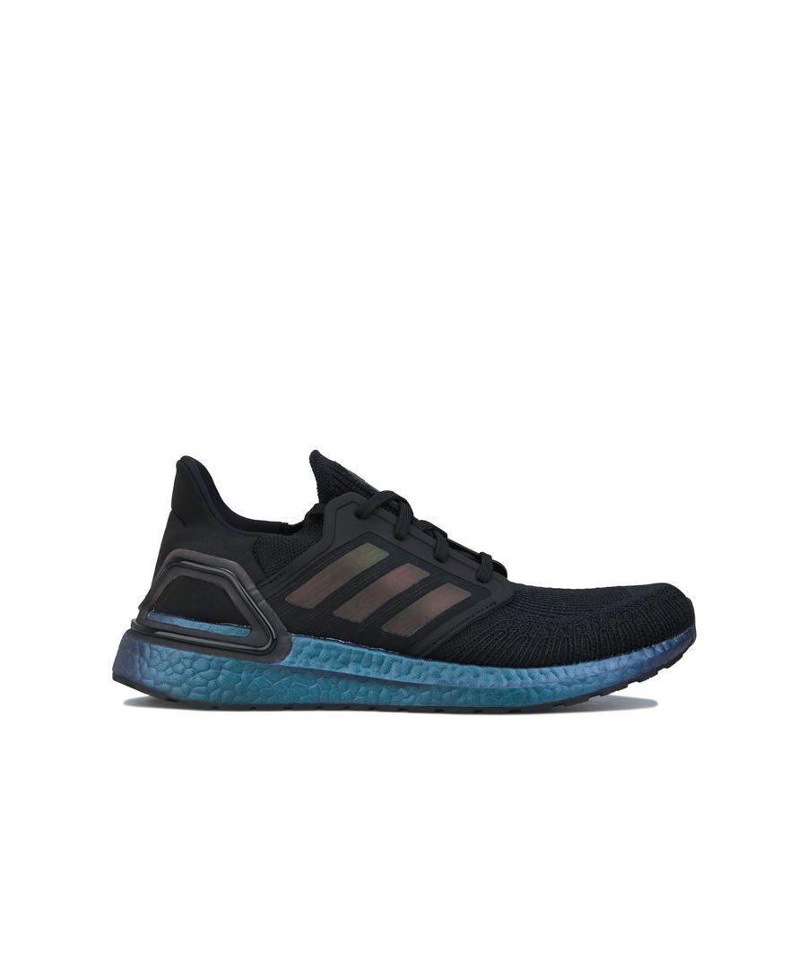 Image for Men's adidas Ultraboost 20 Running Shoes in Black Blue