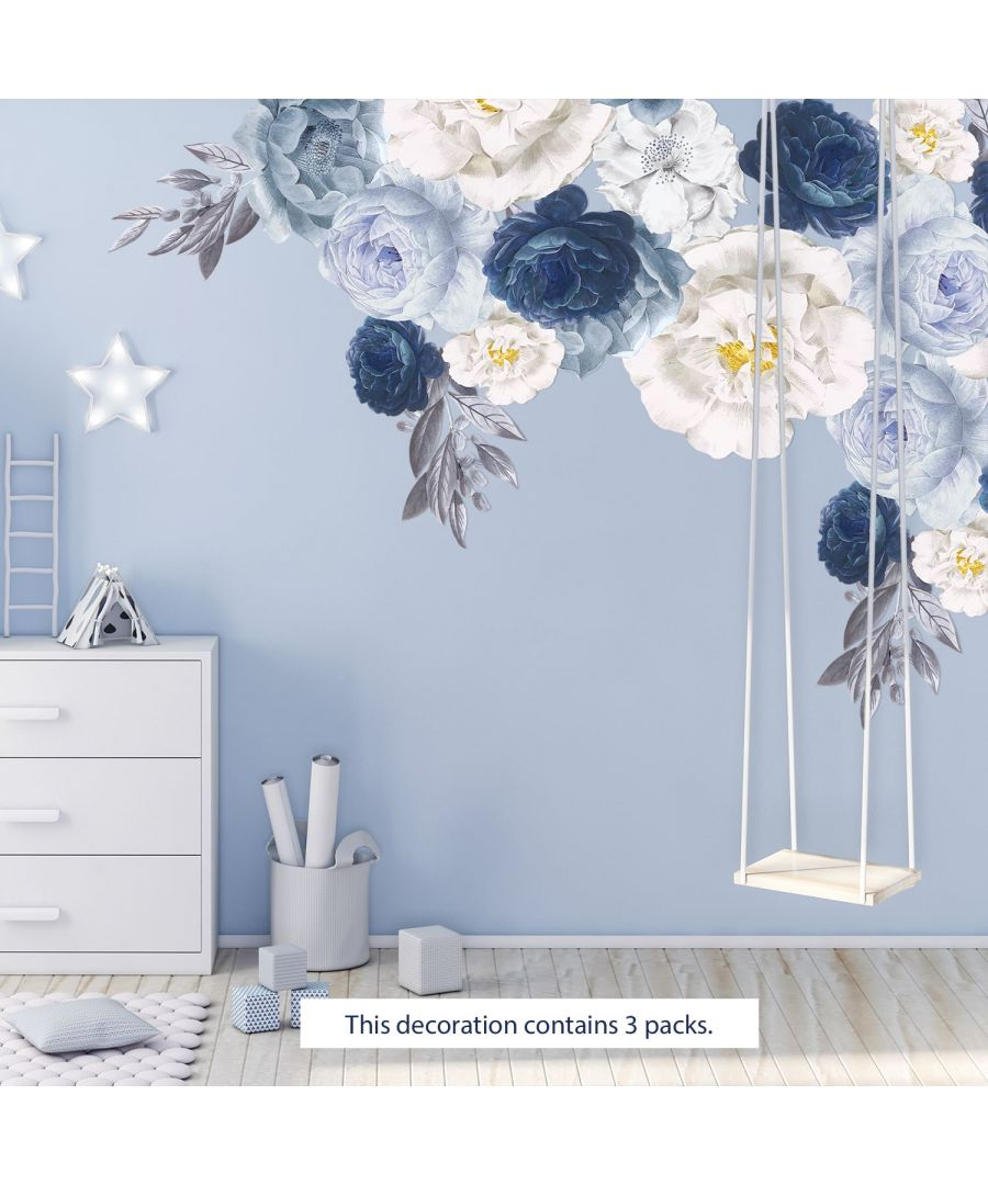Image for Elegant Oversized Peonies Self Adhesive DIY Wall Stickers, Kitchen, Bathroom, Living room, Self-adhesive, Decal, Decoration, Flower