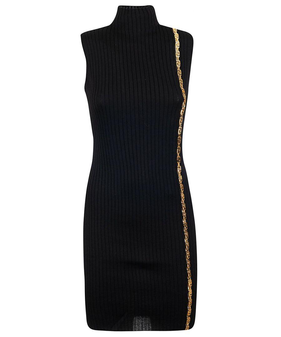 Image for VERSACE WOMEN'S A84599A232013A1008 BLACK WOOL DRESS