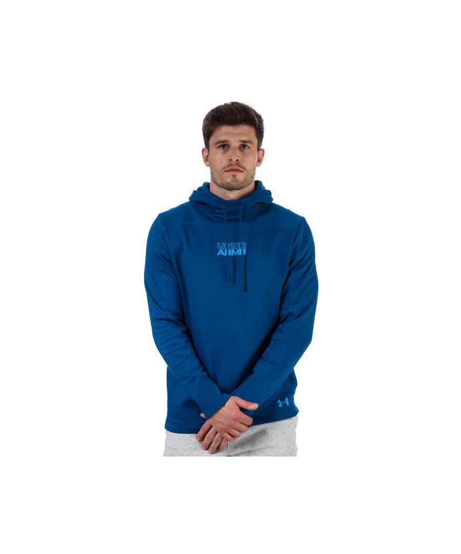 Image for Men's Under Armour Baseline Fleece Hoodie in Blue